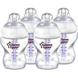Tommee Tippee Closer to Nature Advanced Comfort 260 ml/9fl oz Feeding Bottles (4-Pack)