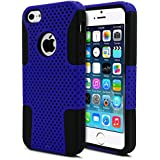 iPhone 5S Case, MagicMobile® Dual Layer Vibrant Style Color Protective Mesh Case for iPhone 5 Soft Inner Silicone...