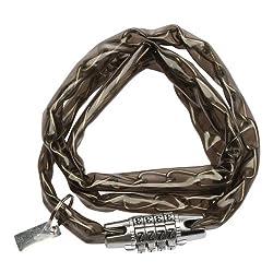 Probike 4 Digit Combination Lock Chain (Black)