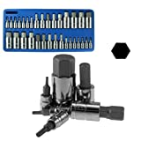 Neiko Heavy Duty 32-Piece Master Allen Hex Bit Socket Set - Combined SAE and Metric