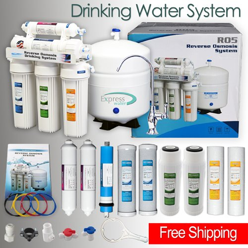 *Detail Shop 5 Stage Home Drinking Reverse Osmosis System PLUS Extra Full  Set  4 Water Filter.