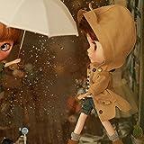 (ドーリア)Dollia ブライス 1/6ドール用 アウトフィット 耳付フード ロング コート ジャケット アウター ネオブライス ドール 人形 (ベージュ)