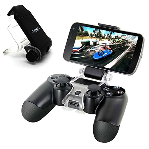 iNextStation PS4 Smart Clip Cell Mobile Phone Clamp Holder For Playstation 4 Game Controller Best Clamp Bracket for Android Mobile Phones, Galaxy S3 S4 S5 S6 Note 2 3 4 & iPhone 4 4s 5 5s 6 6s