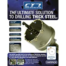 Champion CT7-1-1/8 Tungsten Carbide Tipped 1-1/8-Inch Hole Cutter-1-Inch Thick Metal