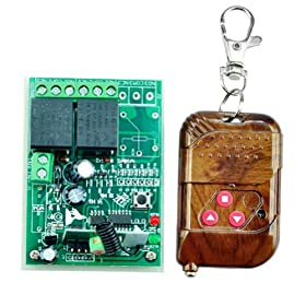 New 12V 10A Wireless Remote Control Code Receiver Momentary Switch (2 Channel)
