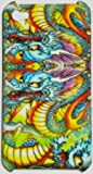 BLUE DRAGON DESIGN ED HARDY STYLE TYPE HARD CASE BACK COVER FOR IPHONE 4 4S/FREE SCREEN PROTECTOR