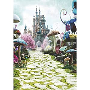 90x150CM 3x5FT Fairy Tale Mushroom Castle Vinyl Studio Photography Backdrop Props Background