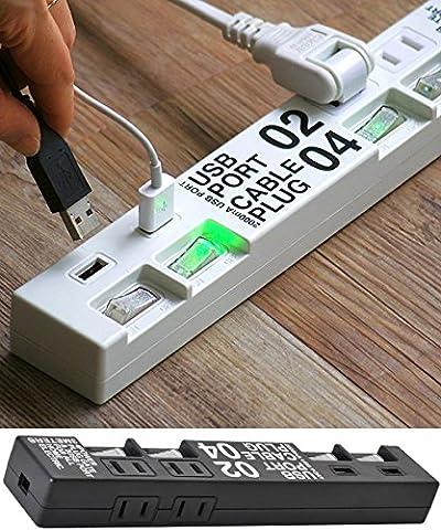 ケーブルプラグ 4個口 & USBポート 2個口 CABE PLUG 04 & USB PORT 02 [ ホワイト ]