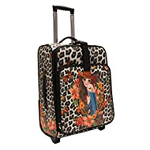 Nicole Lee Cleo21 Inch Expandable Rolling Carry-On, Sandra Black, One Size