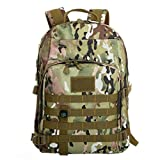 Surenow Men's Military Backpacks Camouflage Canvas School Bags Camo Army Green