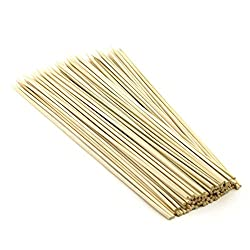 SahiBUY 100 Pcs 8 inches Bamboo Barbecue Party Sticks! Kebab Skewers