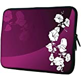 "Snoogg Abstract Vector Wallpaper Of Floral Themes In Gradient Purple 13"" 13.5"" 13.6"" Inch Laptop Notebook Slipcase..."