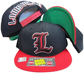 Louisville Cardinals Black Red Two Tone Plastic Snapback Adjustable Plastic Snap Back... by Top of the World