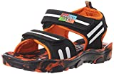 Happy Feet Unisex Magic Black and Orange Sandals and Floaters - 12 Kids UK/India (30 EU) (HF043)