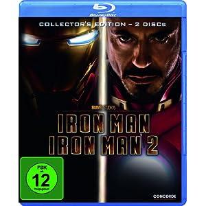 51xFJr1wazL. SL500 AA300  [Amazon] Wieder da! Iron Man 1+2 als Collectors Edition auf Blu ray für inkl. Versand nur 9,99€