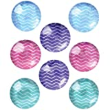Quartet Magnets, 1-Inch, Multicolor, 8 Magnets (27953)