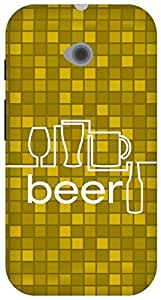 The Racoon Lean Beer hard plastic printed back case/cover for Moto E