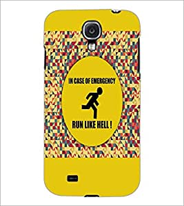 PrintDhaba Quote D-3524 Back Case Cover for SAMSUNG GALAXY S4 (Multi-Coloured)