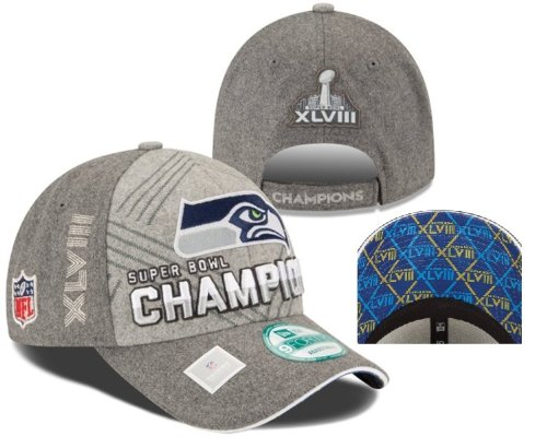 Seattle Seahawks Super Bowl 48 Champions 9Forty Trophy Collection Locker Room Hat at Amazon.com