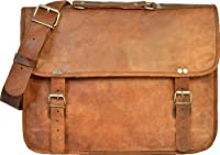 Gusti Leder Unisex Messenger Bag Genuine Leather Case Brown U24
