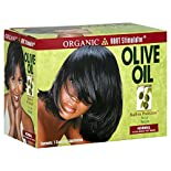 Organic Root No-Lye Relaxer, Built-In Protection, Normal, Olive Oil, 1 application