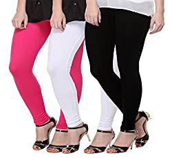 Mynte Women Leggings (Free Size, Pack of 3)