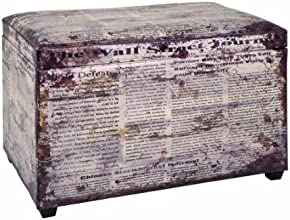 Haku Möbel 30786 Coffre de Rangement MDF/Simili Cuir Multicolore 40 x 65 x 42 cm
