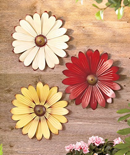 Metal flower wall art decorate with metal wall art for Outdoor wall flowers