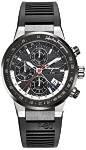 Salvatore Ferragamo Men's F55LCA78910 S113 F-80 Swiss Automatic Chronograph Black Dial Ceramic Bezel Watch from Salvatore Ferragamo