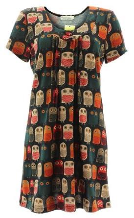 Purplish Knitted Dress LITTLE OWLS DRESS 9001 Black XL