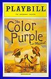 The Color Purple, Broadway playbill + LaChanze , Felicia P. Fields , Kingsley Leggs, Brandon Victor Dixon, Renée Elise Goldsberry