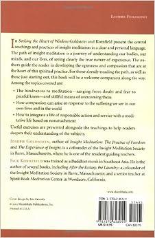 seeking the heart of wisdom pdf
