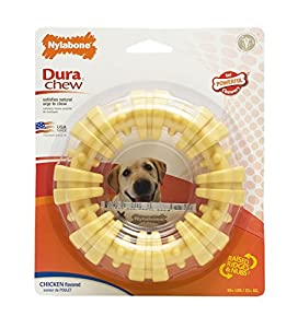 Nylabone Dura Chew Textured Ring Bone Dog Chew Toy