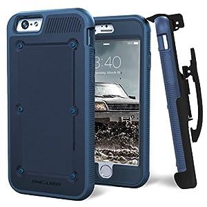 iPhone 6S (2015 Release) BallisticSHIELD Armor Slim Case & Belt Clip - Blue (Quick-release holster design) [Encased Lifetime Guarantee]