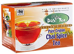 Dils Royal Tea Chai Spice Tea 20-count Foil Envelopes Pack Of 4 from Dil's Royal Tea