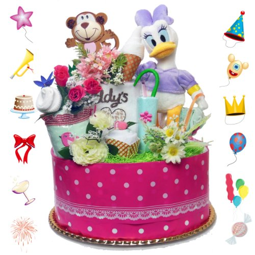 Disney diaper cake ★ I do please-very active Digi's!  ★ gifts to the girls. 1104 (S)