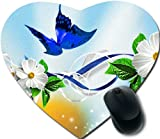 butterfly ribbon blue Personalized Unique Design Durable Printing oblong shaped Mouse Pad