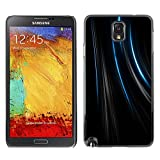 Pulsar Snap on Series Plastic Back Case Shell Skin Cover for SAMSUNG Galaxy Note 3 III N9000 N9005 Lines Black Velvet Fabric Fashion