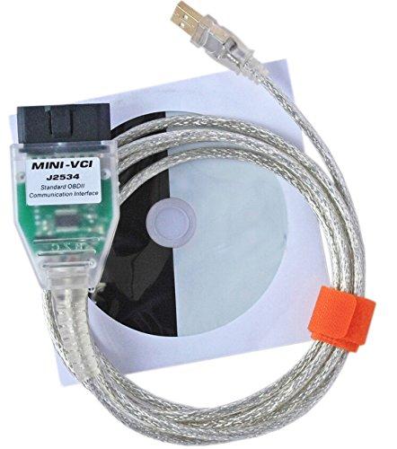 KONNWEI Mini VCI 16 PIN OBD2 Diagnostic Cable for TOYOTA TIS Techstream Cable V9.30.002 (Mini Vci Toyota Tis compare prices)