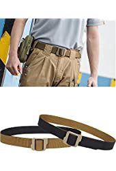 LefRight(TM) 1.5-in Reversible Tactical Nylon Web Adult's Double Duty TDU Belt Black/Coyote