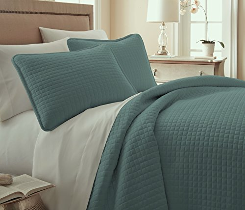Southshore Fine Linens® 3 Piece Oversized Quilt Sets, Steel Blue) Teal (Twin Teal Quilt compare prices)