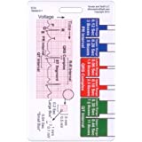 EKG Ruler Vertical Badge ID Card Pocket Reference Guide ECG