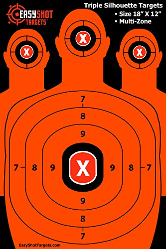 Multi-Zone Silhouette Targets For Shooting 18