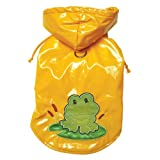 Happy Frog Dog Raincoat Size: X-Small