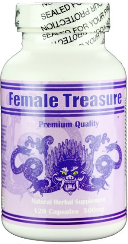 Female Treasure - Natural Herbal Supplement, Pms, Balance Hormones, Menopause, Boost Libido