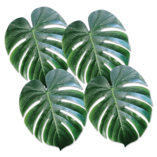 beistle-54556-tropical-palm-leaves-13-inch-4-count