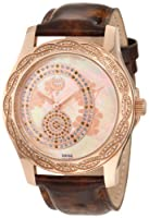 Brillier Women's 03-31325-04 Kalypso Rose-Tone Brown Leather Watch from Brillier