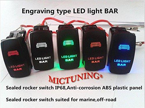 mictuning laser led light bar rocker switch on