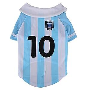 World Cup Soccer Jersey Dog Shirt Blue Argentina S