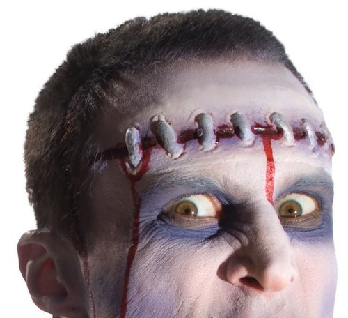 Rubie's Costume Zombie Shop Severed Prosthetic Head, Red And Silver, One Size - 1